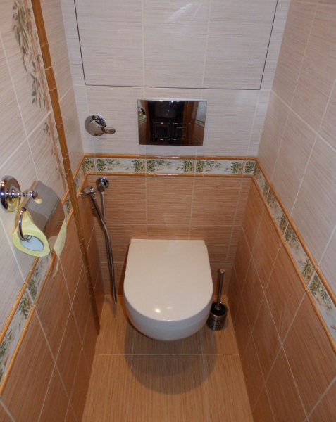 Ремонт и дизайн туалета в хрущевке (55 фото)