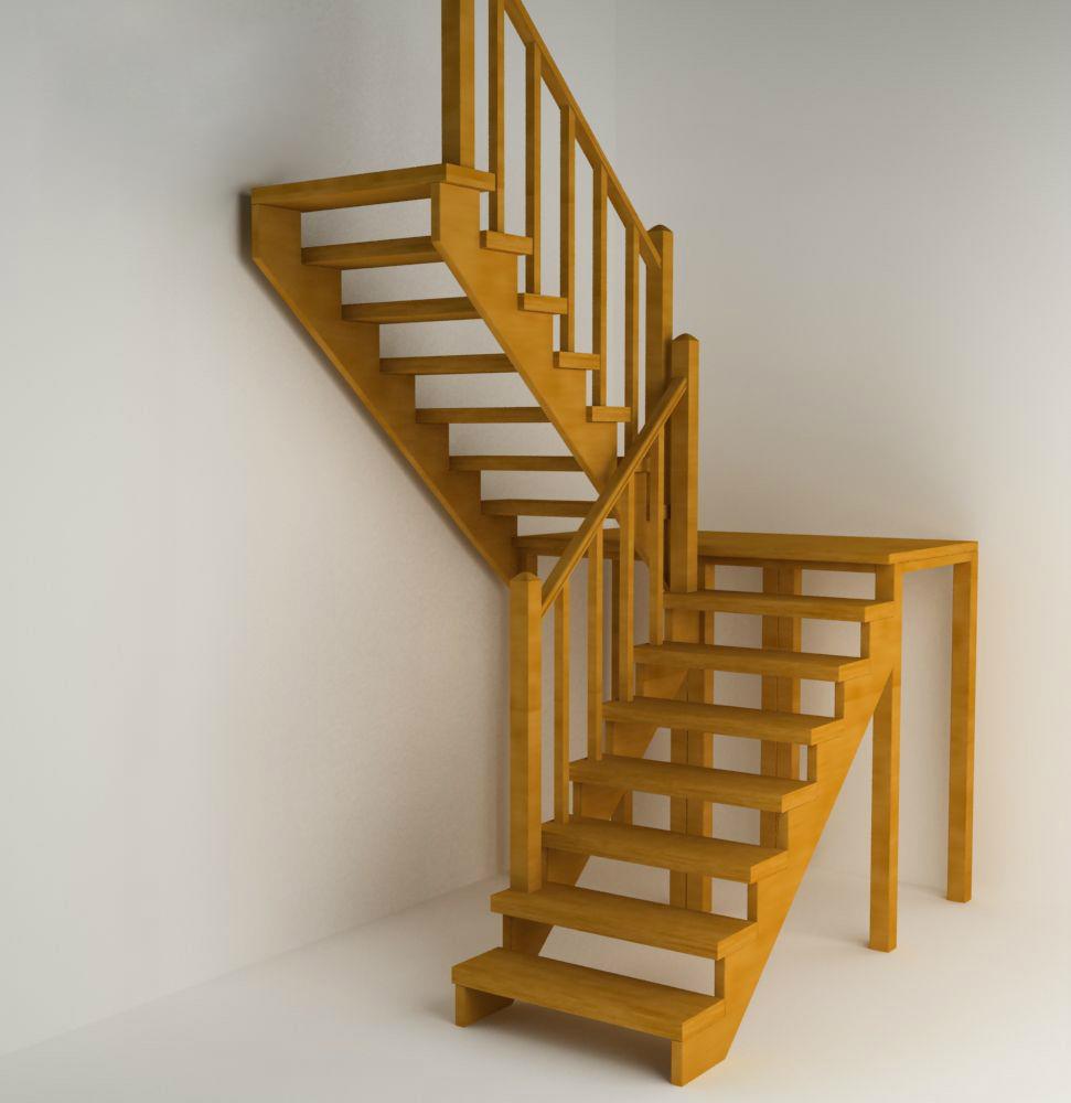 Конструкция двухмаршевой лестницы