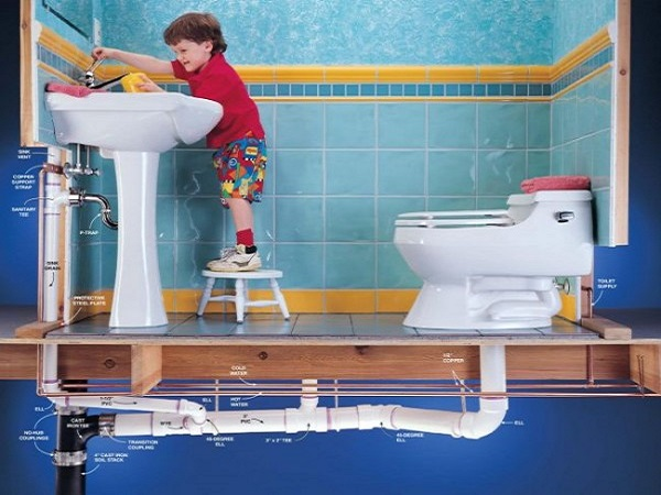 Разводка труб в ванной комнате – советы мастеров