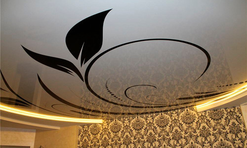Рисунок на потолке своими руками — техника нанесения