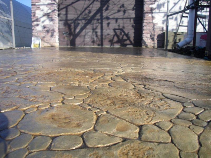 Штампованный бетон видео работы бетон