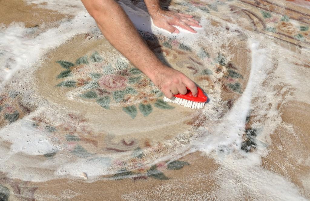 Как очистить ковер от шерсти