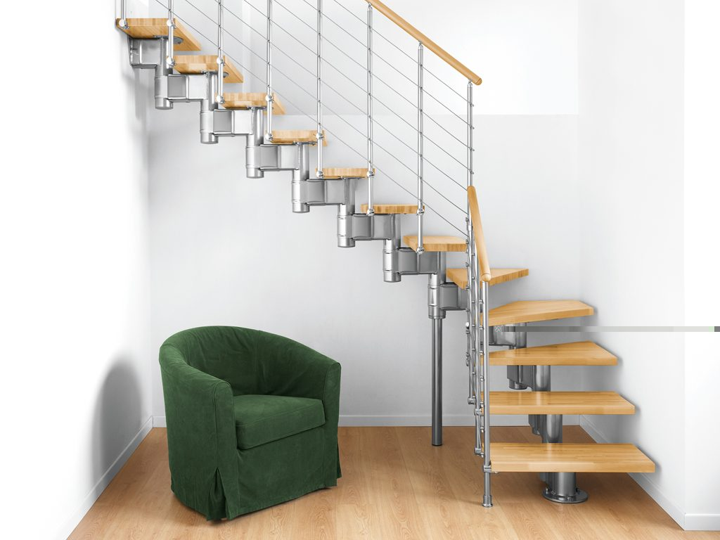 Модульная лестница на второй этаж