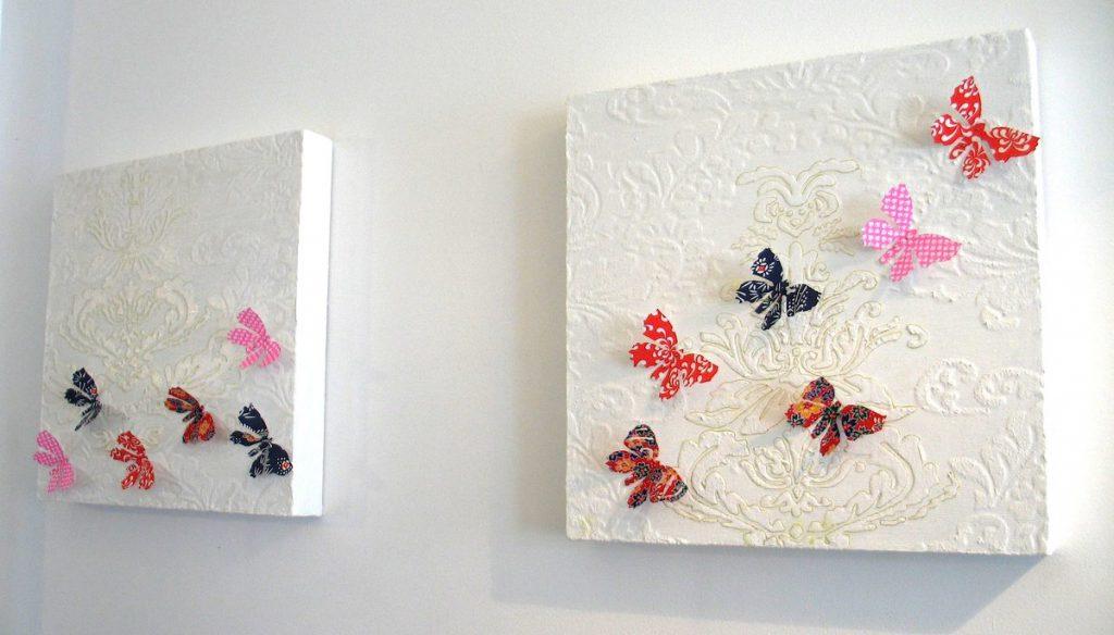 Панно для детской с бабочками