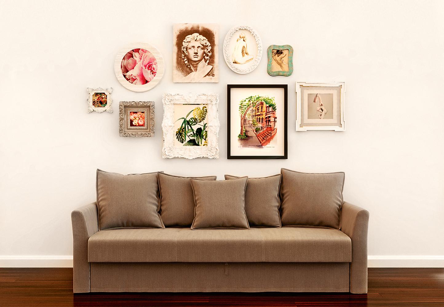 Хочу рисовать: украшение стен собственными картинами [с чего начать?   какие техники в тренде 2019]