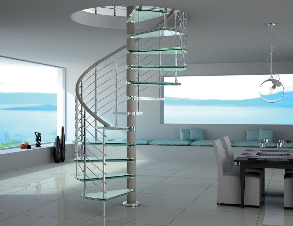 Винтовая лестница в стиле хай-тек