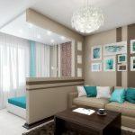 Как сделать зонирование/разделение комнаты на спальню и гостиную