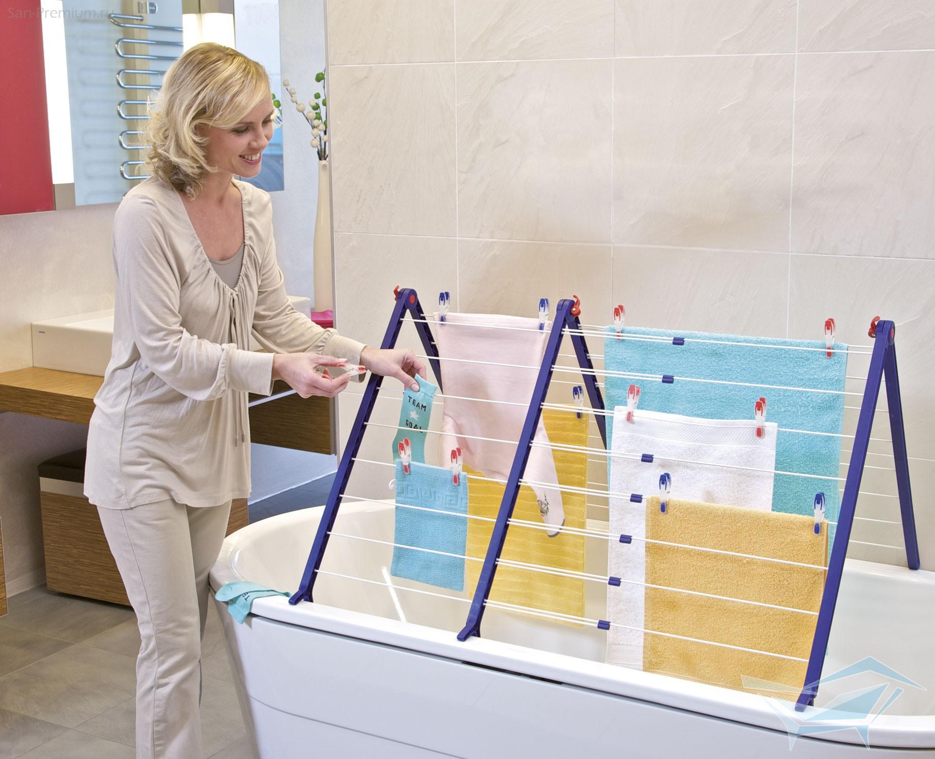 Где сушить белье в квартире красиво? [5 нестандартных решений]