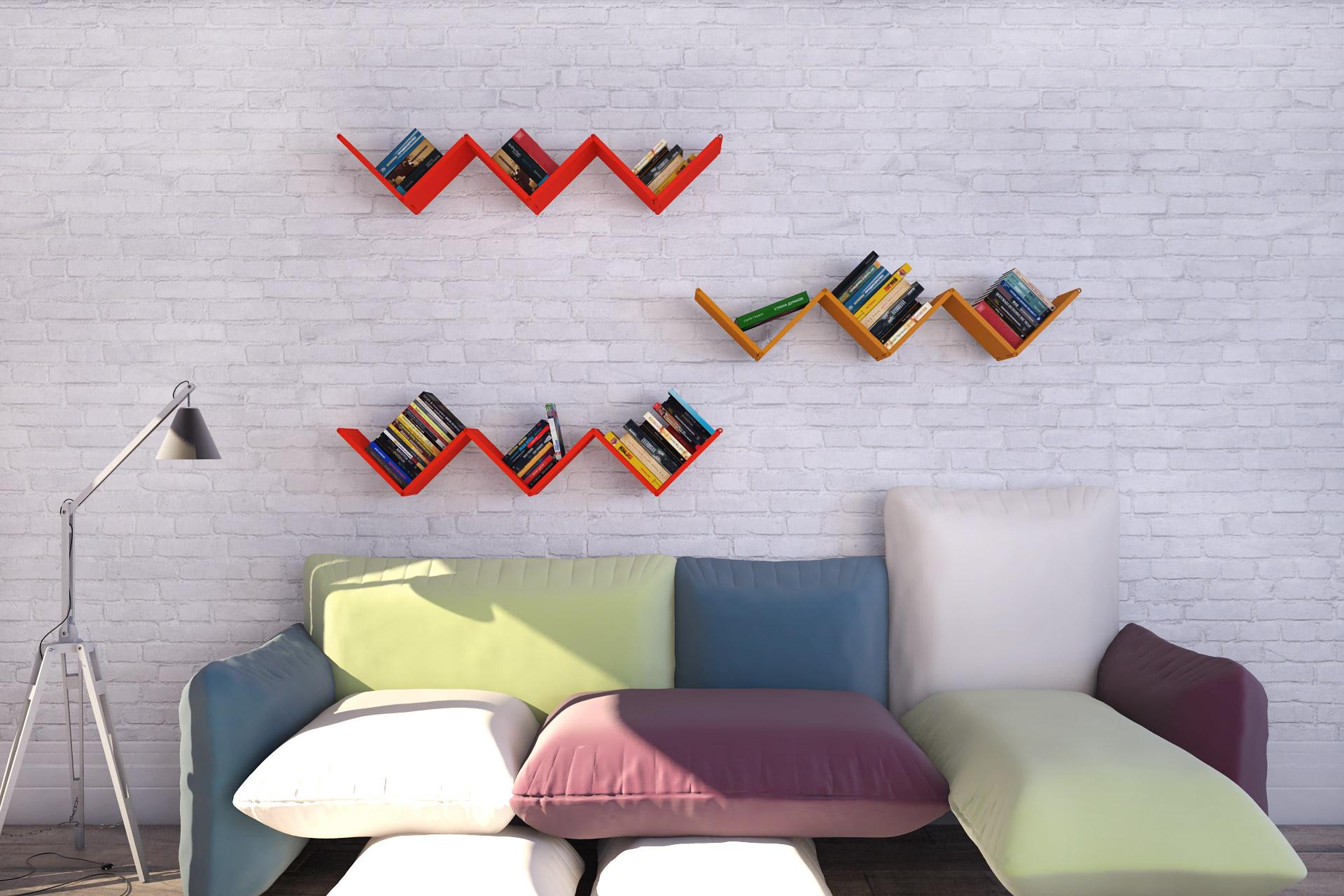 Размещение полок на стене: 5 стильных вариантов