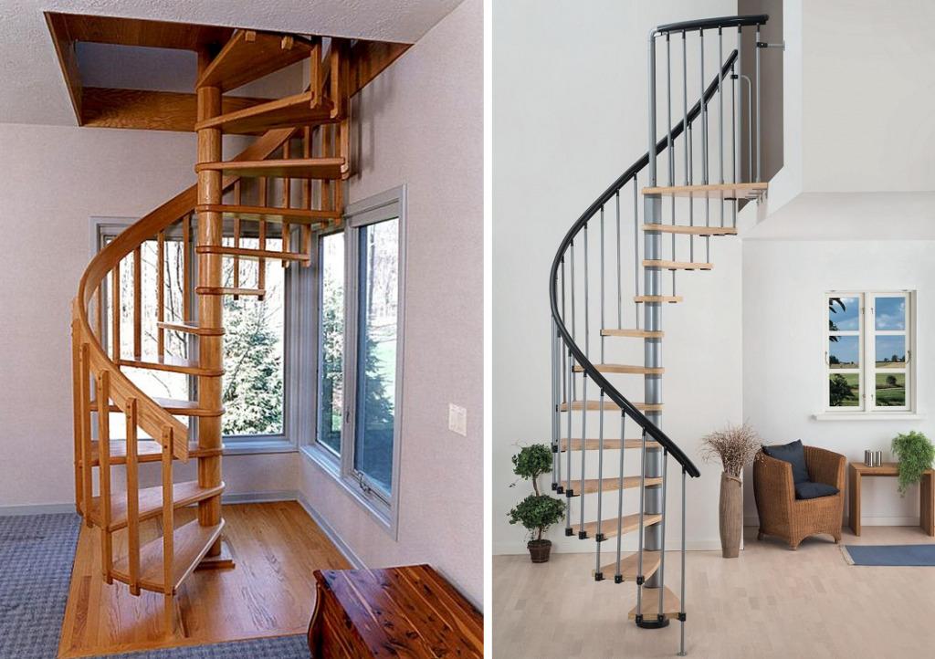Винтовые лестницы эконом класса