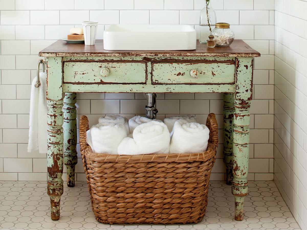 Интересные способы хранения вещей в ванной