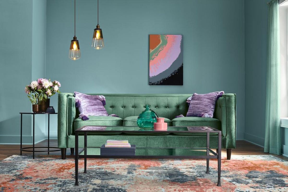 Модные оттенки в дизайне интерьера 2019