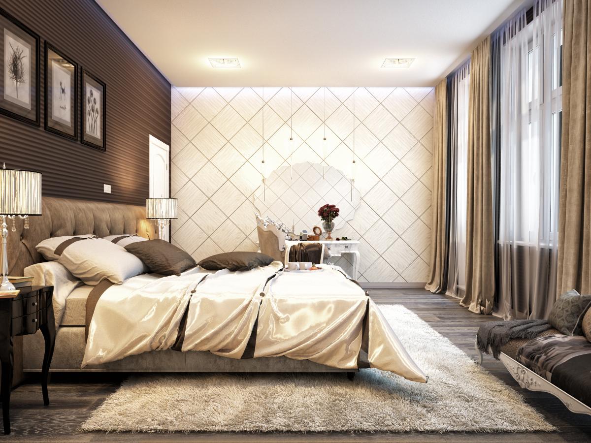 [В тренде!] обои с геометрическими узорами в спальню
