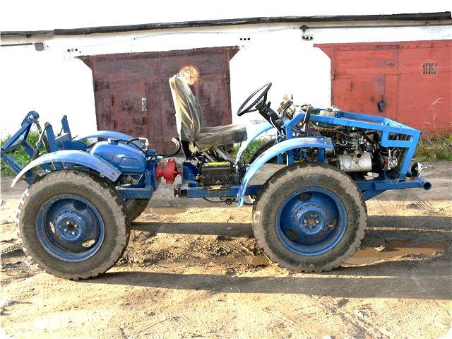 Самодельный трактор переломка 4+4 своими руками с двигателем от Оки