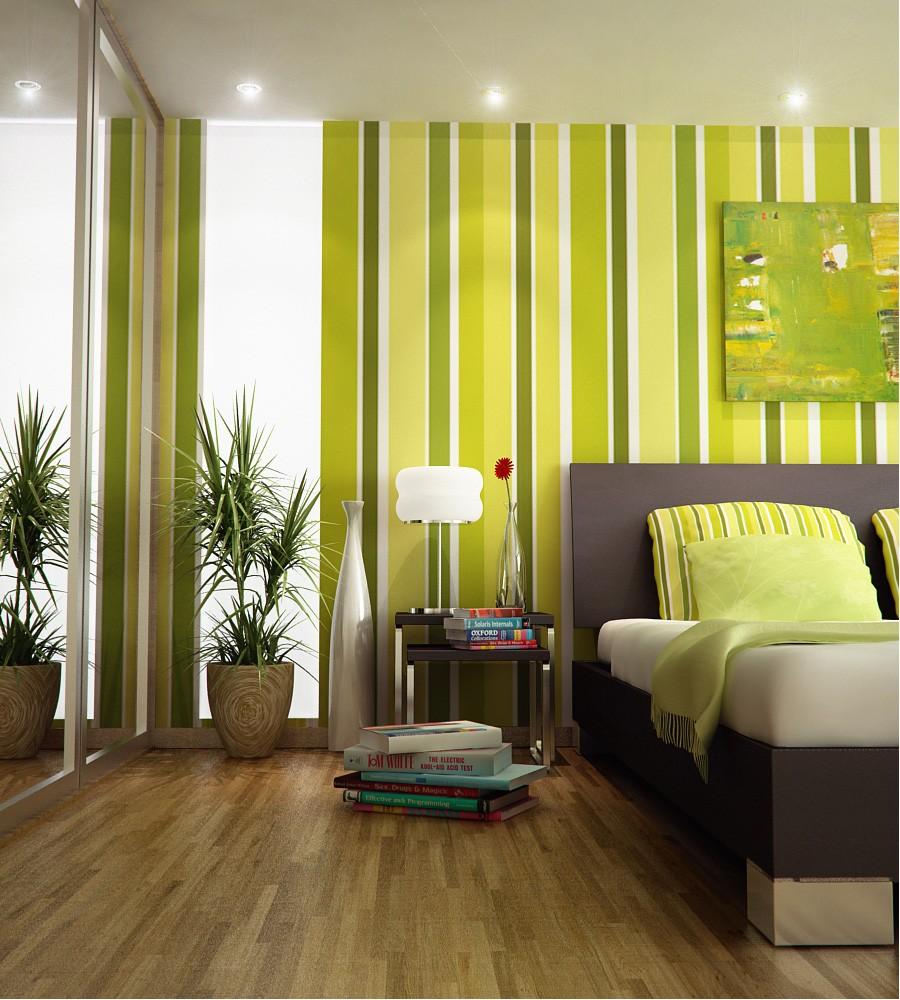 Обои в разноцветную полоску: оформляем стены с умом