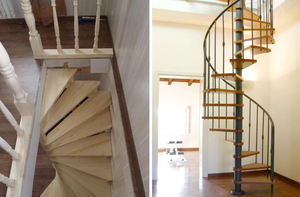 Варианты лестниц для узкого проема