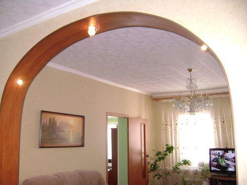 Отделка и оформление арки в квартире: фото идеи