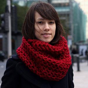 вязание шарфа снуда для женщин спицами схема C описанием