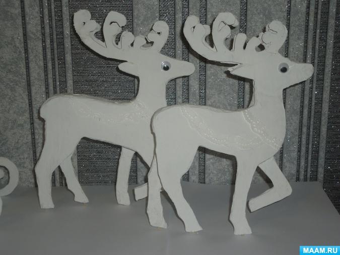 Сани Деда Мороза своими руками из картона в технике квиллинг