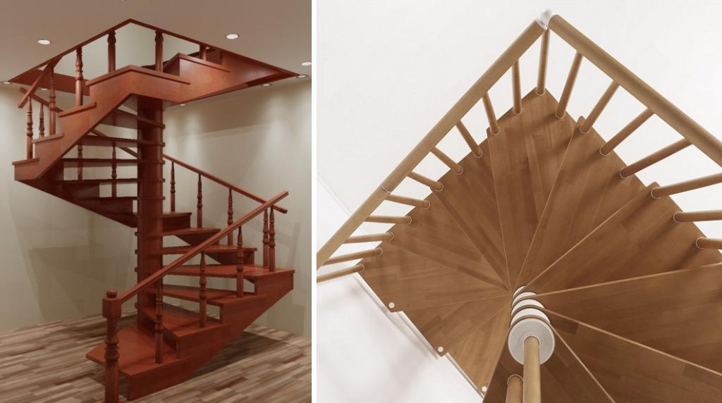 Квадратная винтовая лестница