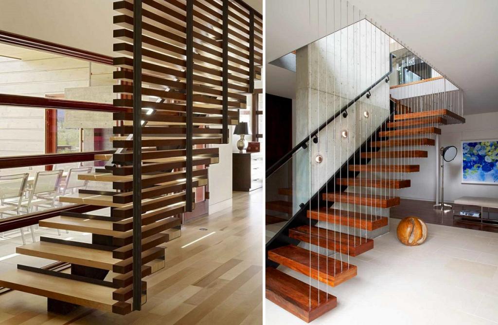 Идеи для ограждения лестницы
