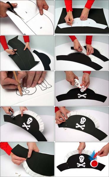 Пиратская шляпа своими руками из бумаги: мастер-класс с видео