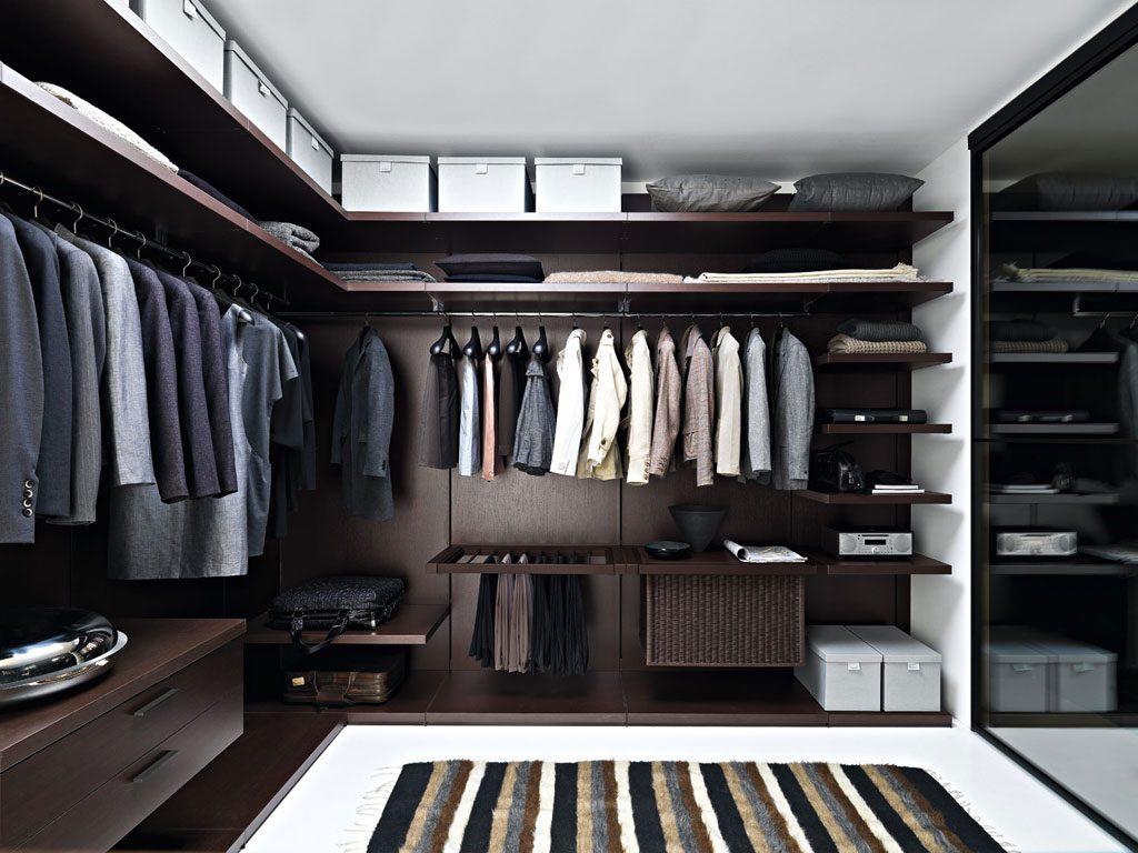 мужская гардеробная комната