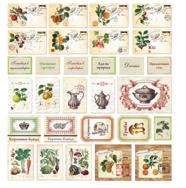 Кулинарная книга своими руками: идеи скрапбукинга с шаблонами