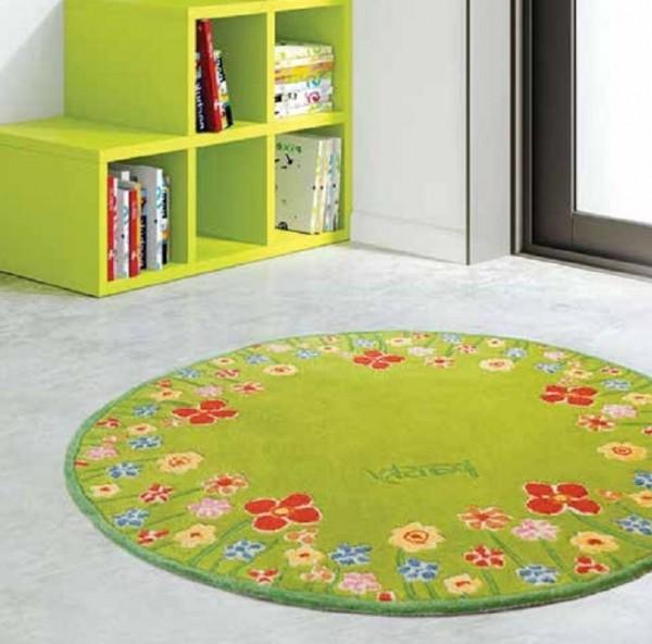 Овальные и круглые ковры в интерьере (30 фото)