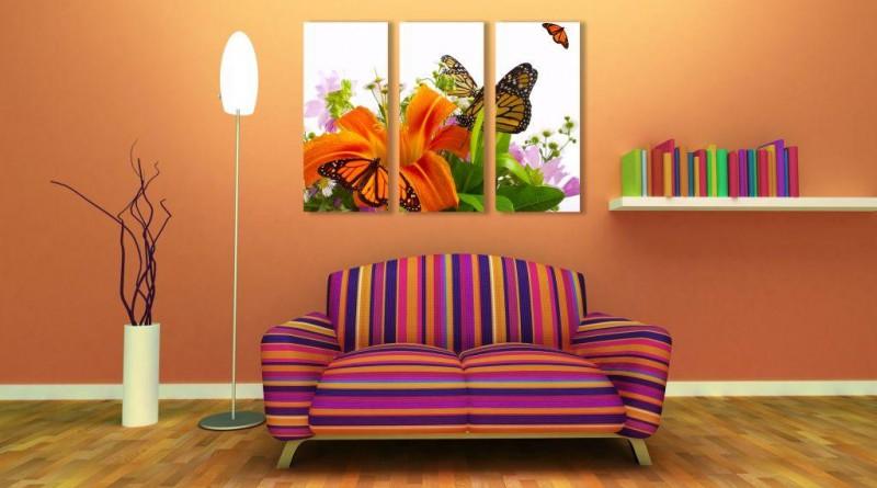 диван и лампа