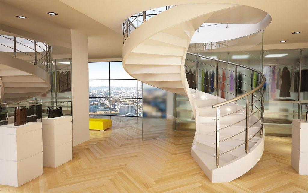 Винтовая бетонная лестница