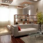 Совмещение зала, кухни и спальни в квартире 20 кв. м.
