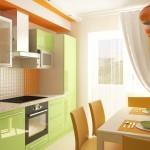 Оформление кухни в зеленых тонах: композиции и оттенки