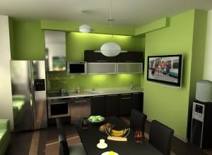 зеленые стены