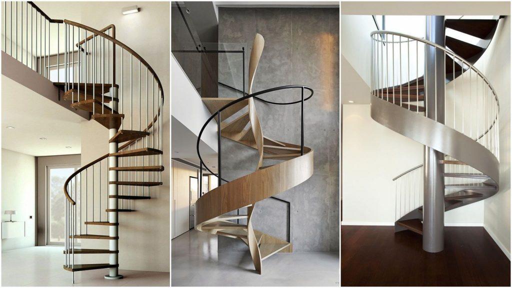 Красивые винтовые лестницы на второй этаж