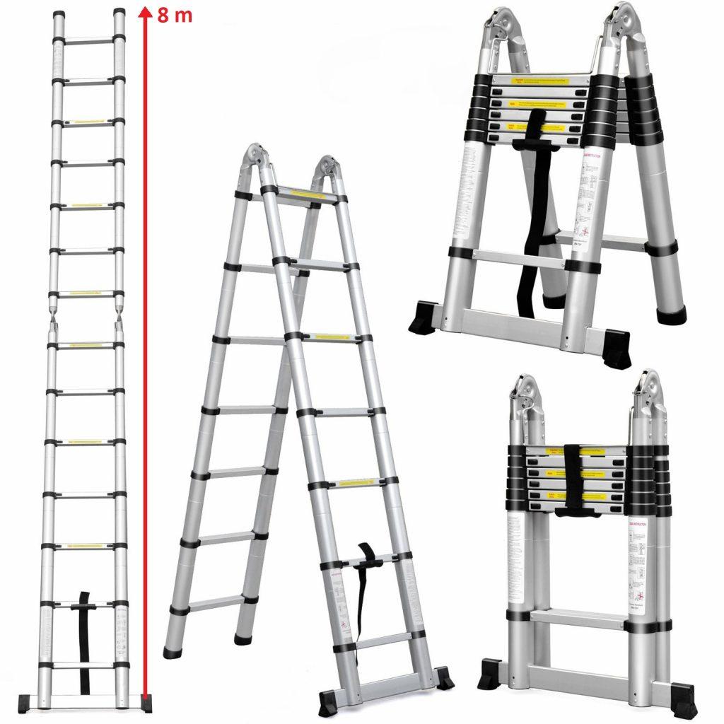 Телескопическая лестница 8 метров