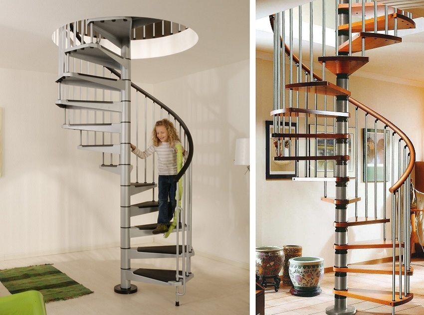 Спиралевидные лестницы эконом класса