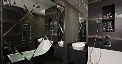 Как использовать зеркальную плитку в ванной? [стильные советы]