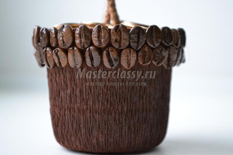 Мастер-класс по кофейному топиарию своими руками с монетами