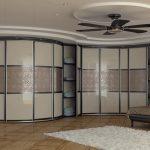 Радиусные шкафы-купе: особенности преимущества и недостатки