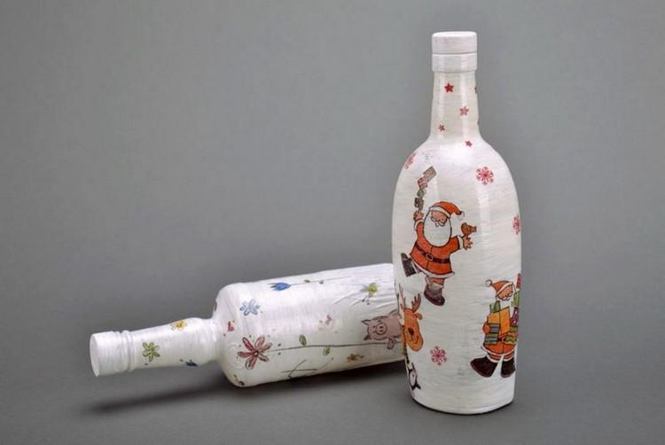 Поделки из стеклянных бутылок для дома и дачи (36 фото)
