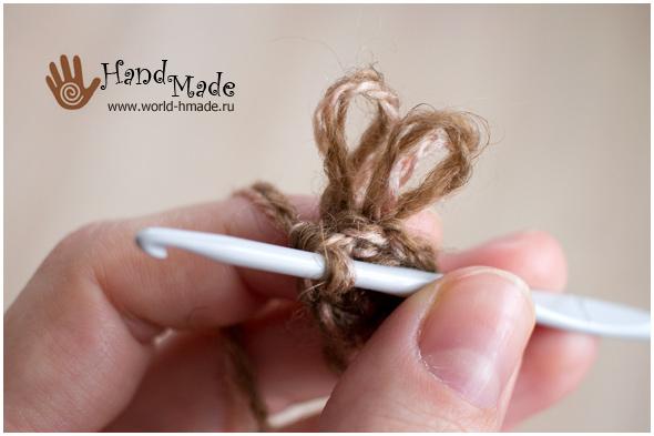 Вязание крючком вытянутых петель пошагово для начинающих