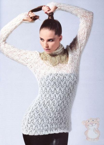 Вязать свитер спицами женский видео уроки