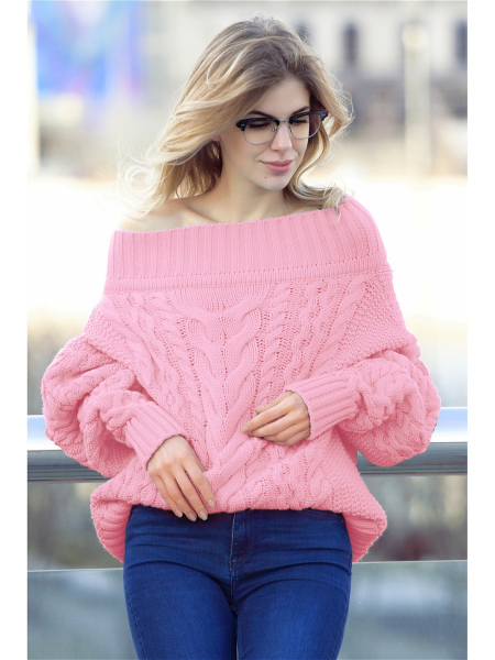 свитер с открытыми плечами схема вязания спицами с фото