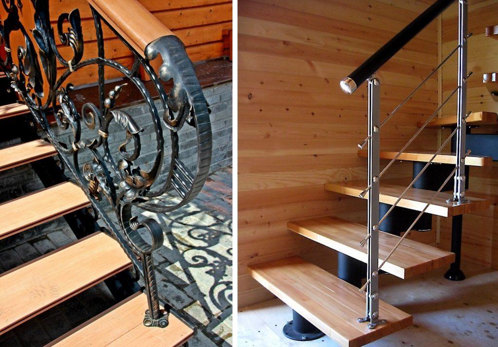 Ограждения для металлической лестницы