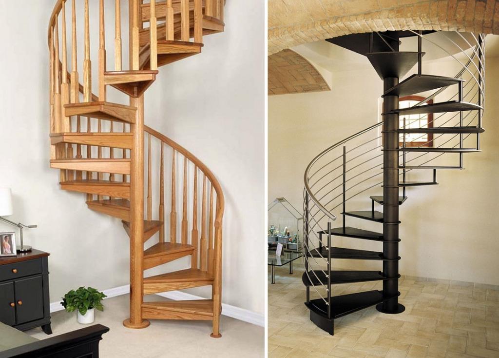 Винтовые лестницы из дерева и металла