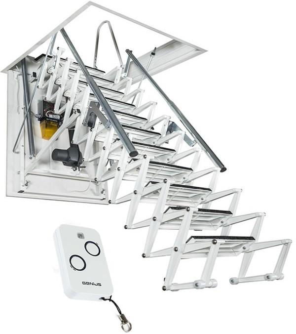 Чердачная лестница с электроприводом