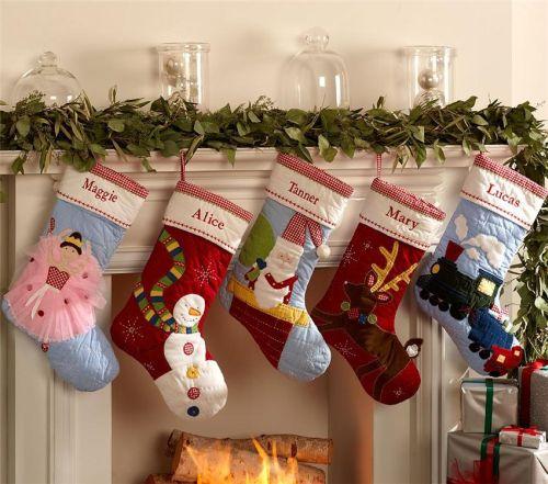 Новогодние носки своими руками
