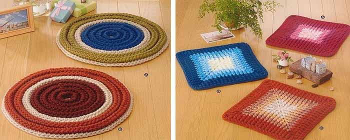 просто и красиво коврики крючком для начинающих