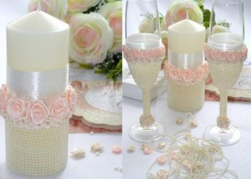 Свечи на свадьбу своими руками: мастер-класс с фото и видео